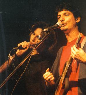Suely Mesquita e Pedro Luís, lançamento do CD Zona e Progresso no Teatro da UFF, foto de Gustavo Stephan